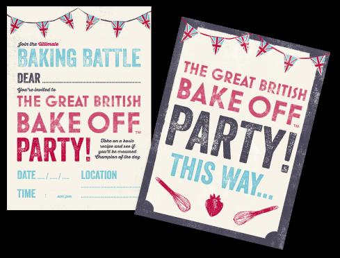 GBBO invite- online birthday ideas
