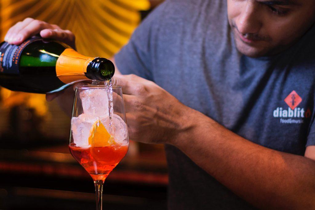 Prosecco Mixers -Drunken Berries Aperol Spritz