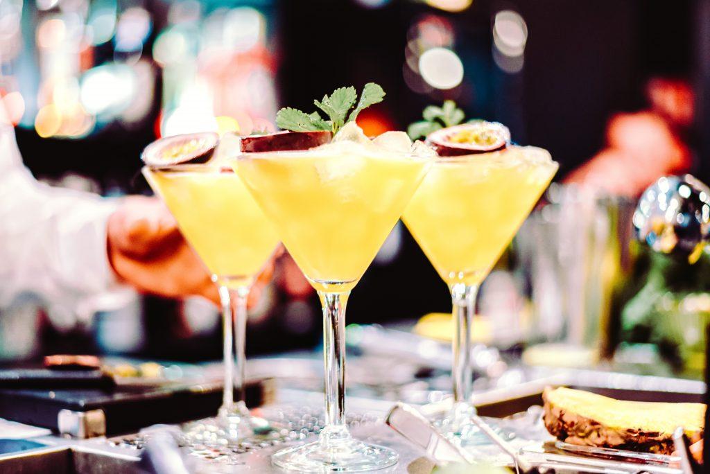 Passionfruit wedding cocktail