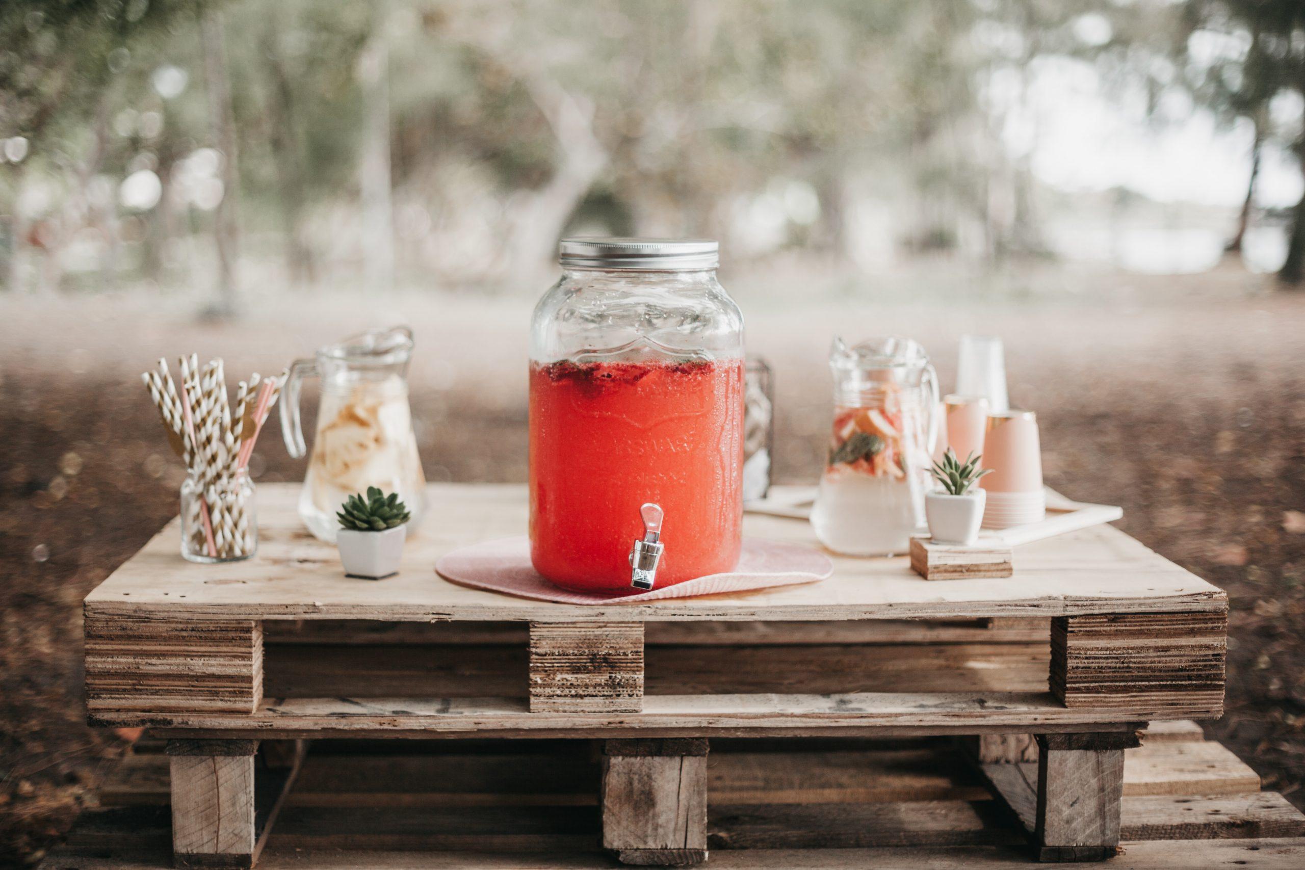 Pimms wedding cocktail Drunken Berries